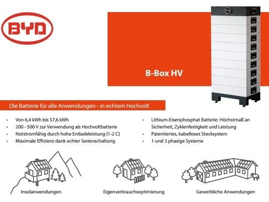Batteriespeicher BYD B-BOX- 4322 Mumpf